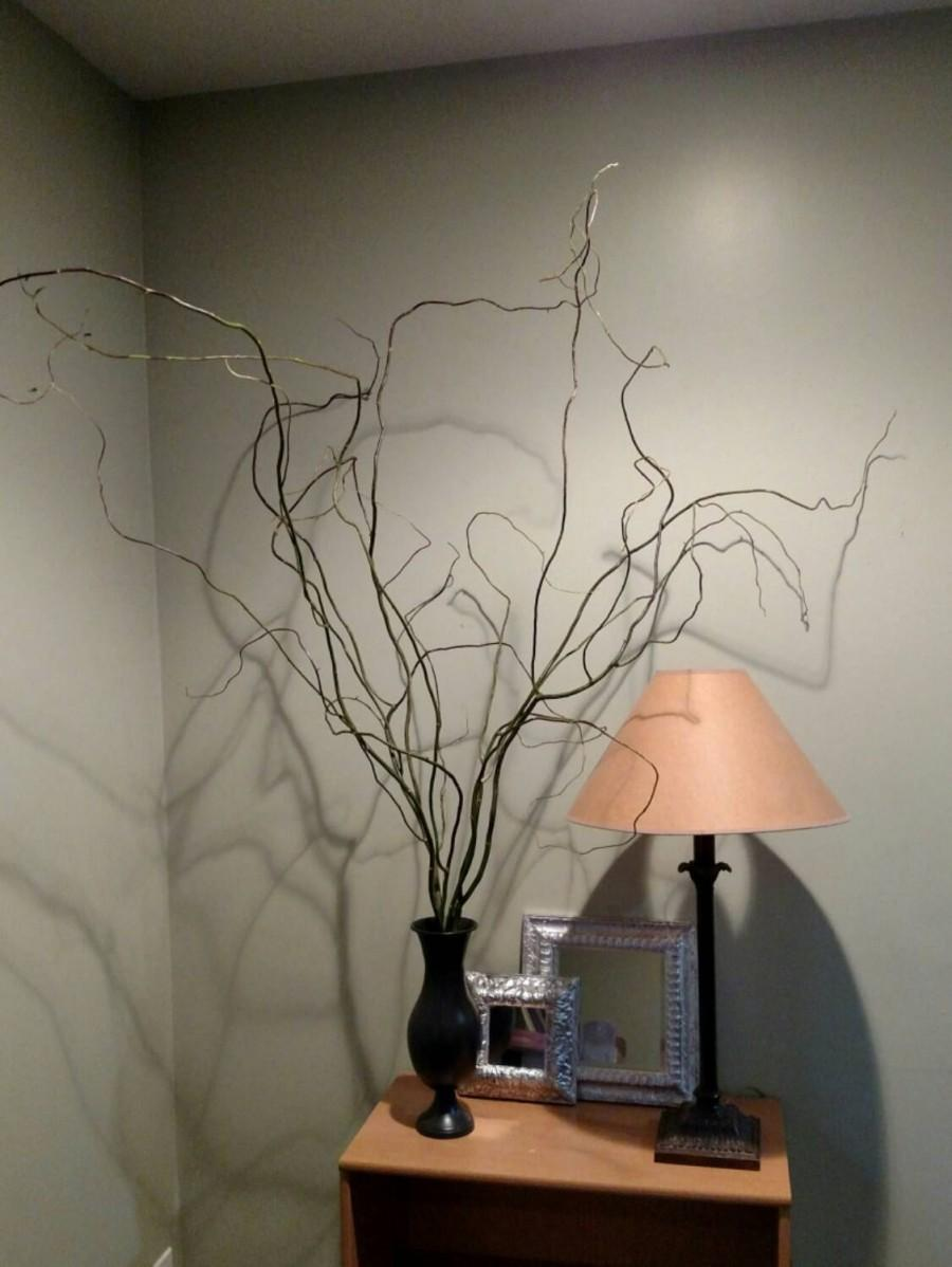 زفاف - 12 - 5' FT. Extra Long Curly Willow Branches for Weddings Centerpieces Arbors