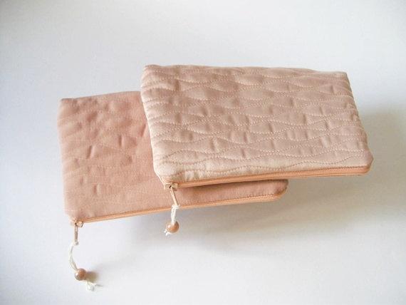 Hochzeit - Flower girl gift bag, Pink Wedding clutch, Coin purse for girl, Birthday gift, Kid's clutch