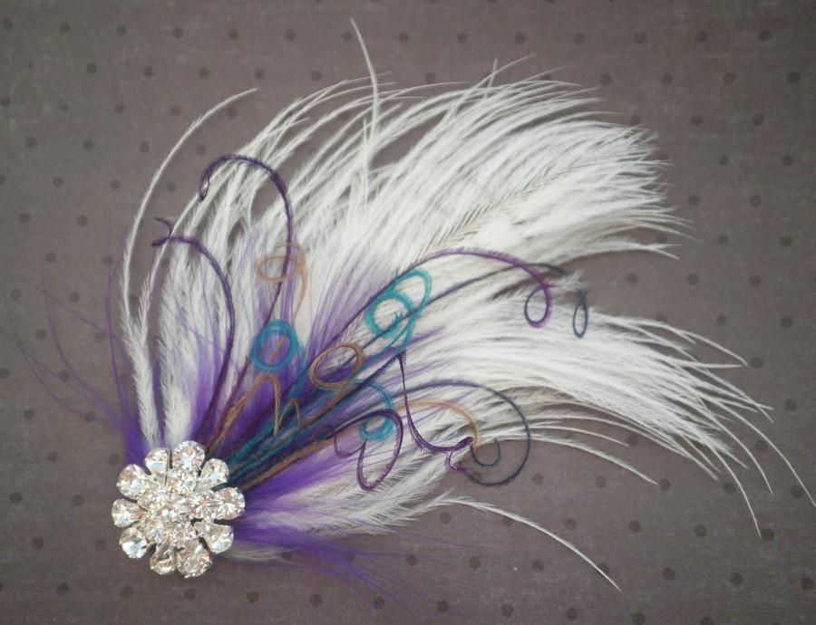 Bridal, Facinator, Accessories, Feather, Hair, Clip, Wedding ...