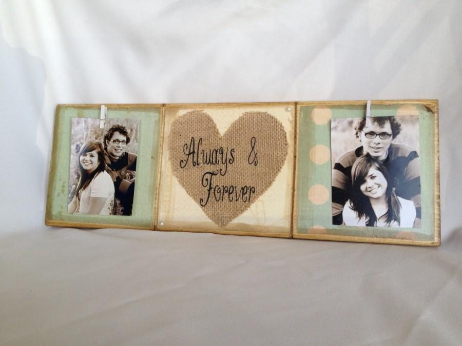 Свадьба - Personalized wedding gift/decoration always and forever happily ever after wedding gift, shower gift, anniversary gift burlap heart shabby