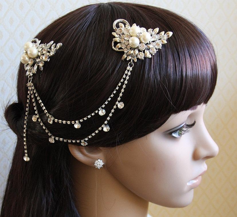 Mariage - Bridal Comb, Pearl Comb, Bridal Comb Crystal, Wedding Crystal Hair Comb, Hair Comb, Wedding Accessory, Bridal Headpiece, Bridal Hair Comb