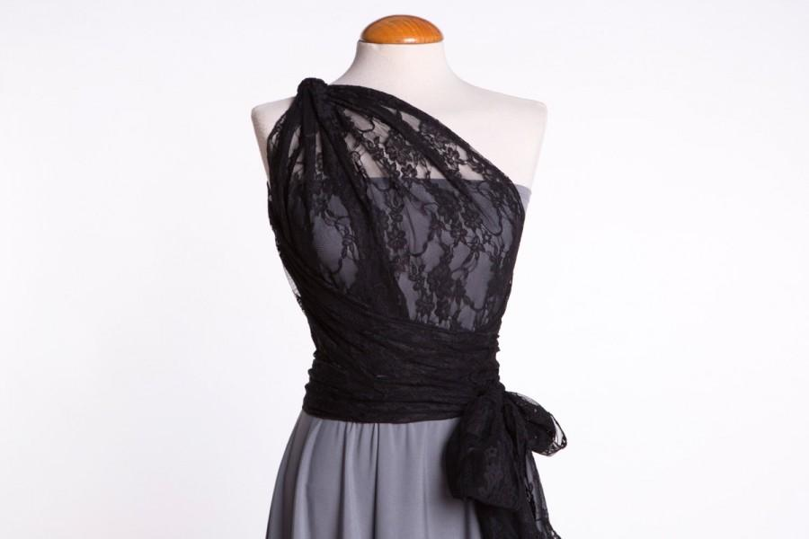 Grey Bridesmaid Dress, Gray Bridesmaid Dress, Short Lace Dress, Gray ...