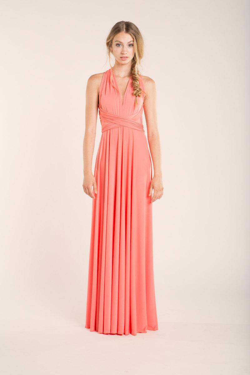 coral bridesmaid dress peach bridesmaid dress coral