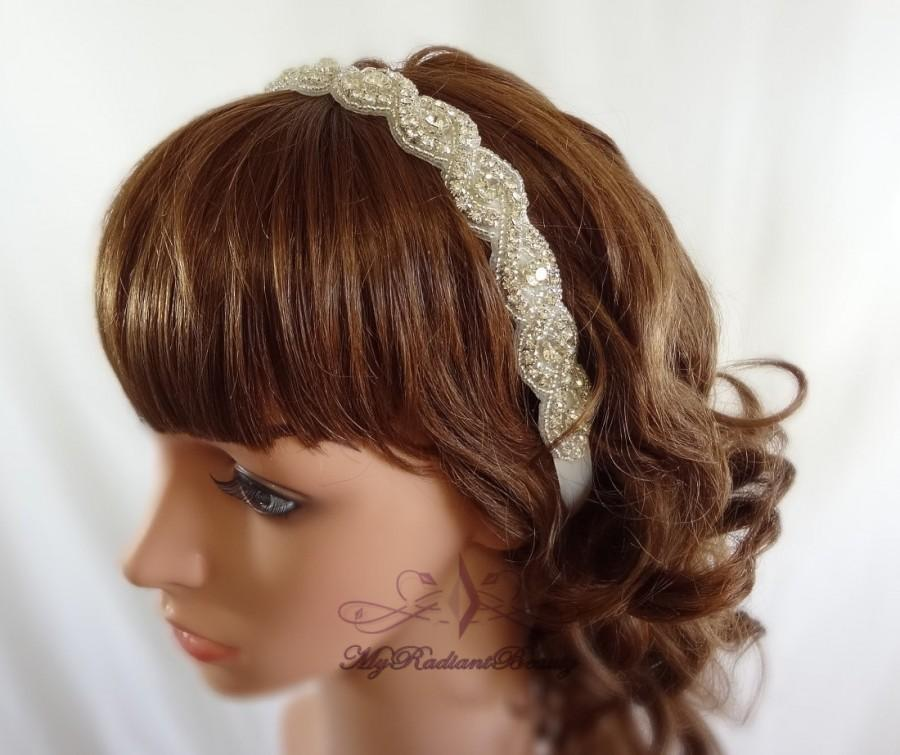 Mariage - Wedding headpiece, headband, Rhinestone Headband, Wedding Headband, Bridal Headband, Bridal Headpiece, Hair Accessories, Bridesmaid RB0002