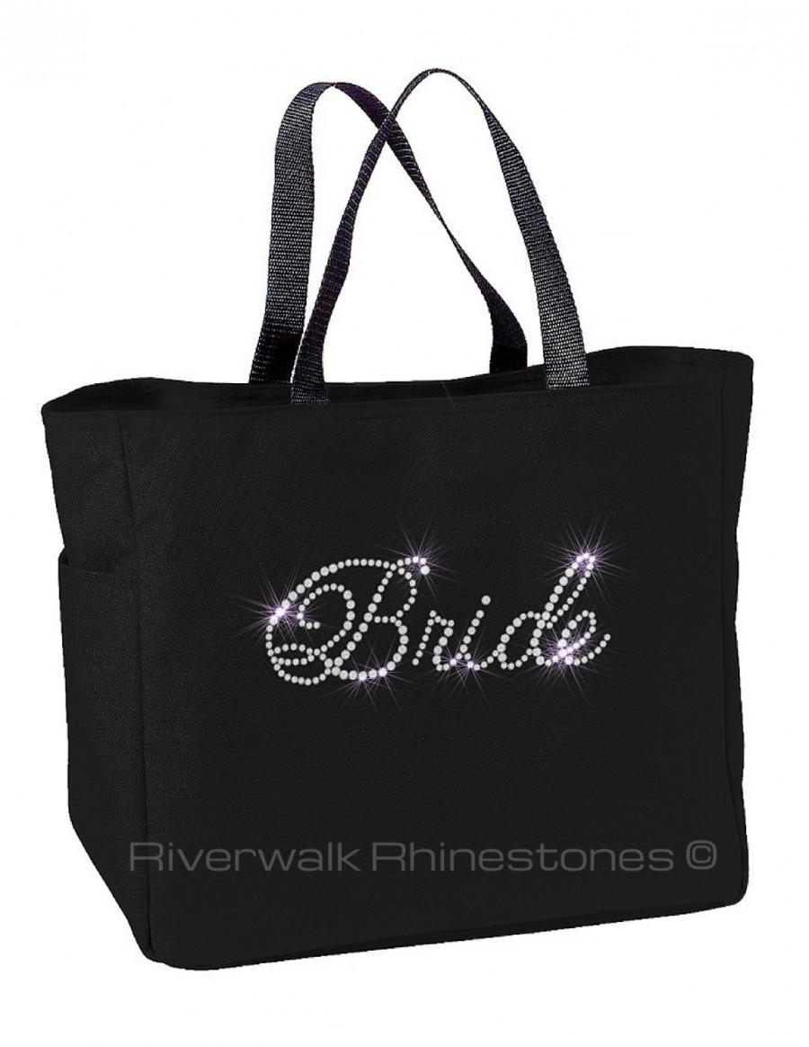 Hochzeit - SALE-Rhinestone Bride Tote Bag