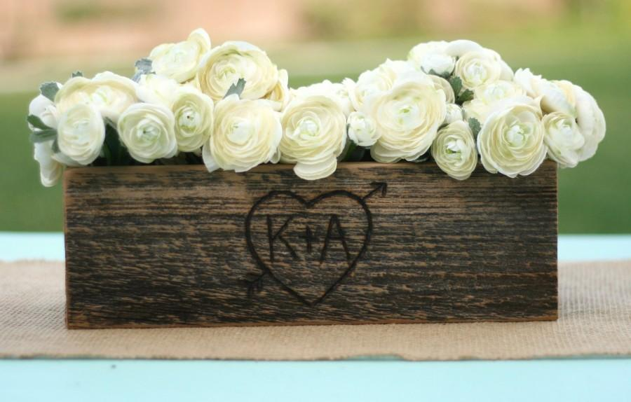 Barn wood rustic vase centerpiece personalized item