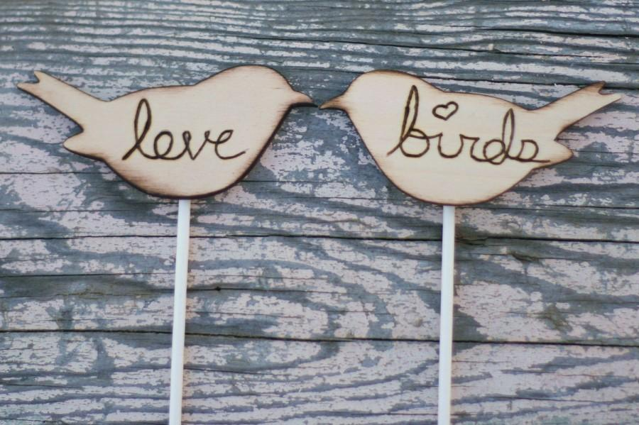Свадьба - Love Bird Wedding Cake Topper Rustic Decor (item E10002)