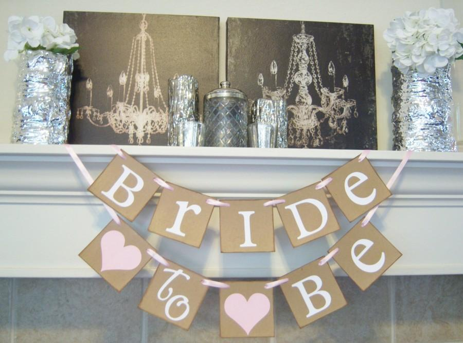 Свадьба - Bridal Shower banner,Bachelorette, bridal shower decor, Bride to be banner, wedding banner, bridal shower, decorations, wedding banners