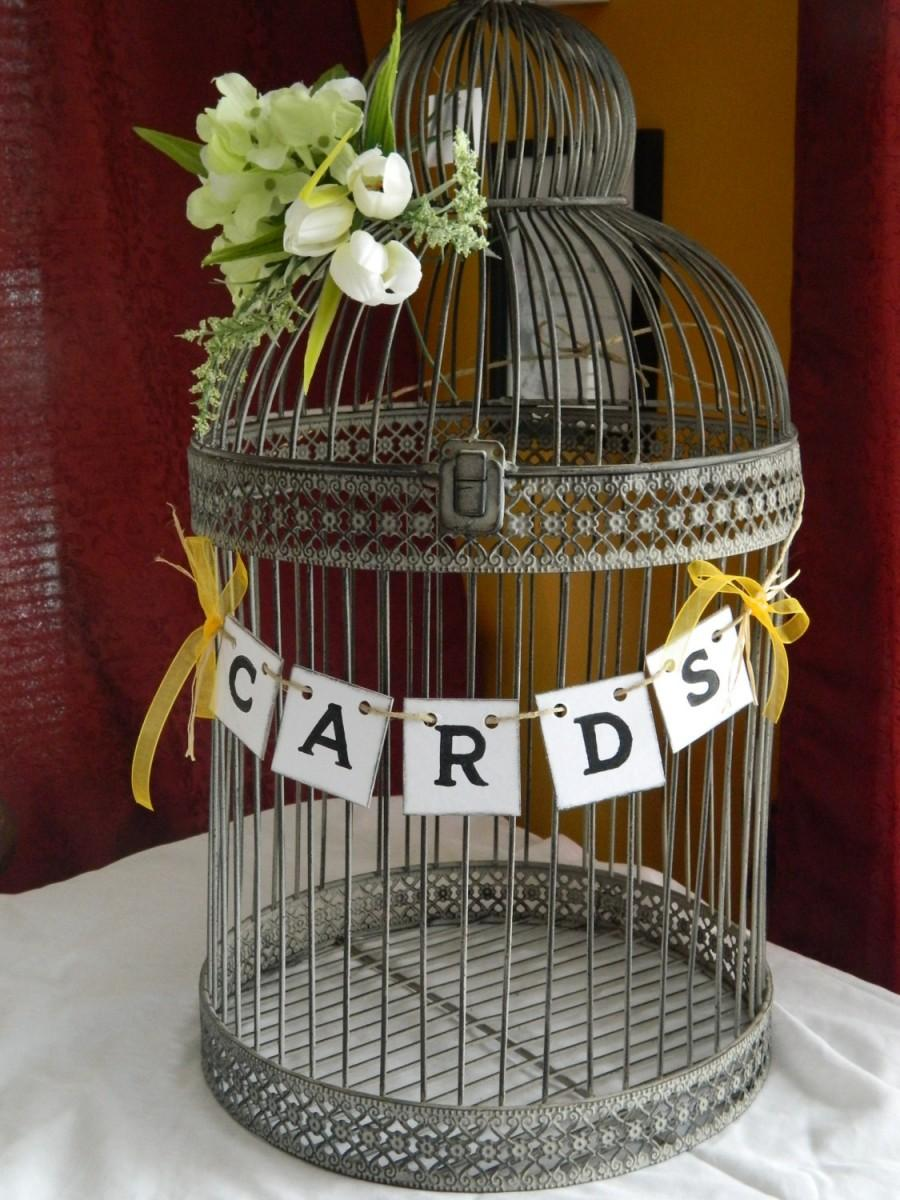 Wedding Cards Box Suitcase BannerWedding Cards Birdcage Sign – Birdcage Wedding Card Box