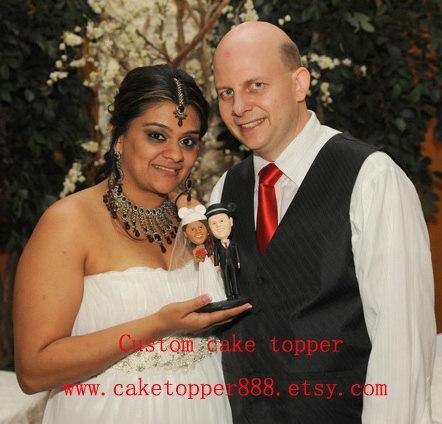 Свадьба - Disney Custom  wedding cake topper