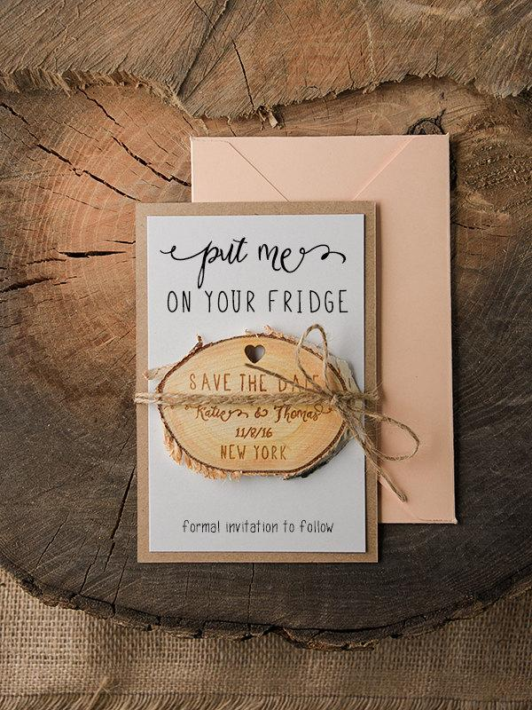 Wedding - Save The Date Magnets (20), Rustic Wood Save the Date, Engaved Save the Date Magnets,Wooden save the date magnets,