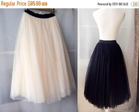 Hochzeit - Long Tulle skirt. White Nude Black Tulle Skirt. Maxi Tulle skirt. Elastic Waisted Bridesmaid Skirt - Casual Wedding -Plus size Tutus xs-xxxl