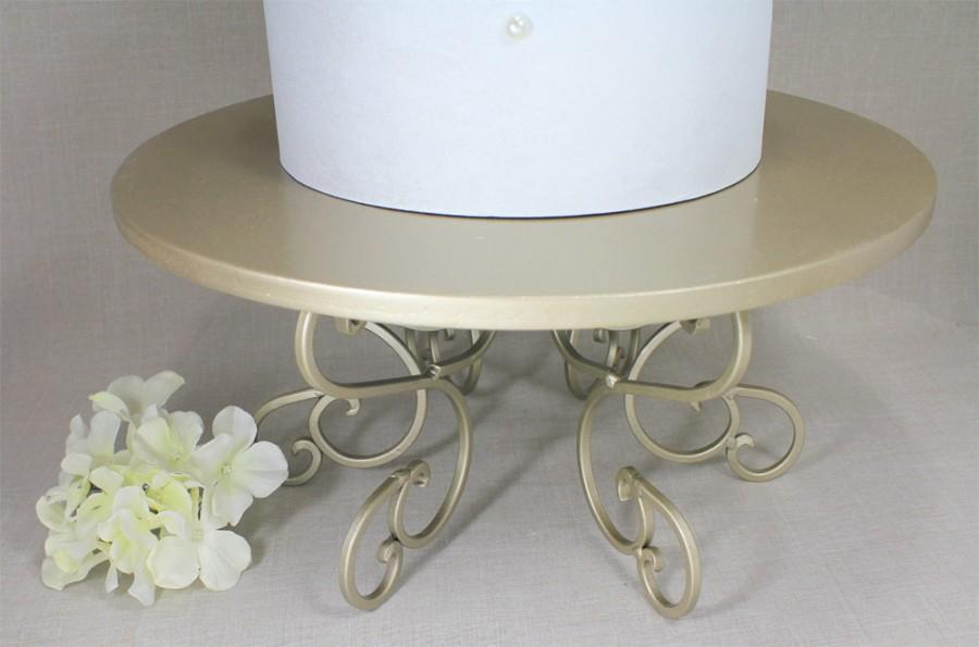Hochzeit - Wedding Cake Stand Champagne Swirl Pedestal, Light Gold. Cupcake Stand Display. Cake Plate. Cake Table Decor. Champagne Wedding. Dessert