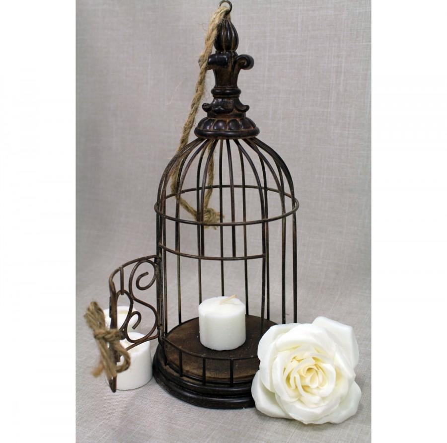Bird Cage Centerpiece Rustic Chic Centerpiece Vintage Wedding