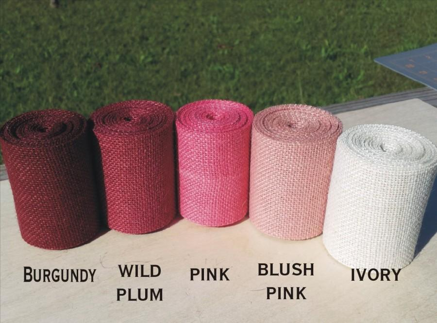 Hochzeit - 3 inch Pink Burlap Ribbon - 3 yards