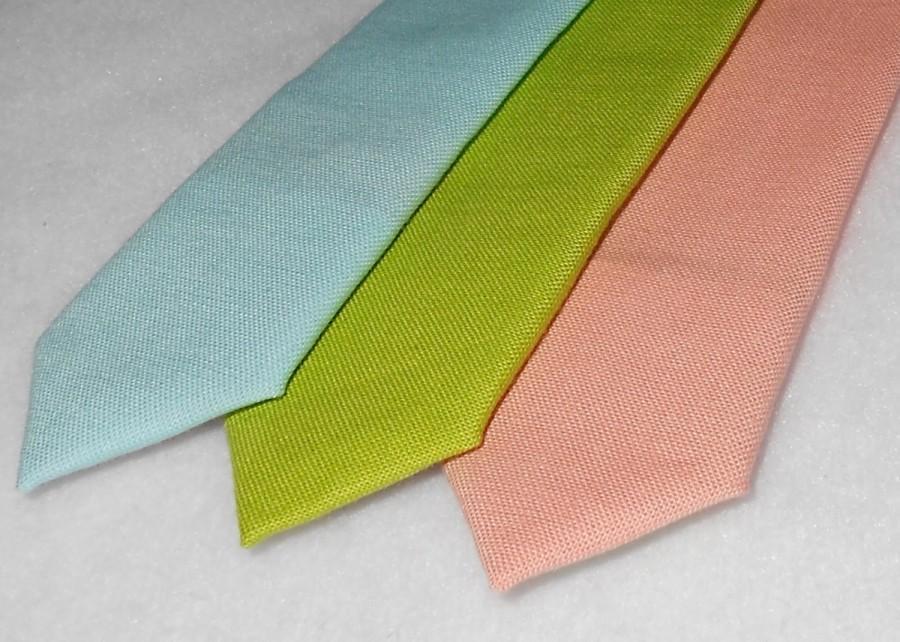 Свадьба - Aqua, Lime, or Peach  Tie - Skinny or Standard width -Men's, Teen. Tween, Youth