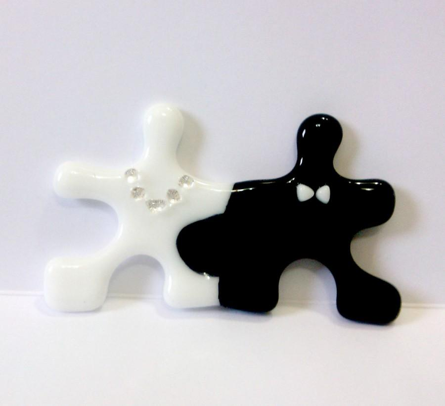 Puzzle Wedding Cake Topper Bride And Groom Symbol Of A