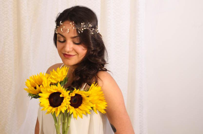 Hochzeit - Gold Wire Wrapped Bridal Headband With Pearls, White Beads, and Rhinestones