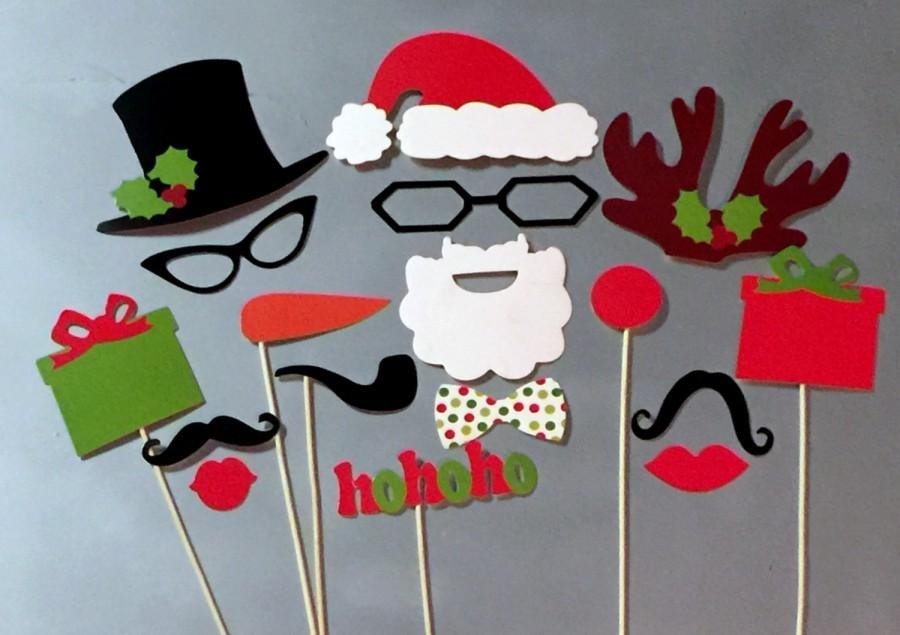 christmas photo booth props 17 piece santa wedding photo props set holidays photobooth props party props