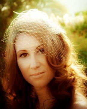 زفاف - Rustic Wedding Veil, Bridal Birdcage Veil, Ivory Hair Net, White Wedding Hair Accessory, VANITA