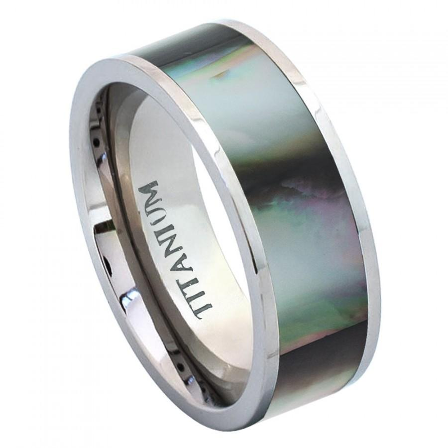 Unique Mens Ring Mens Jewelry Mens Gift Titanium Wedding Band