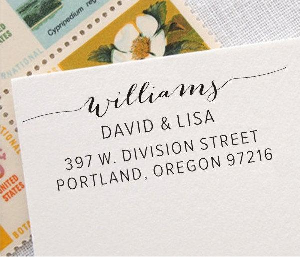 Return Address Stamp Calligraphy Name