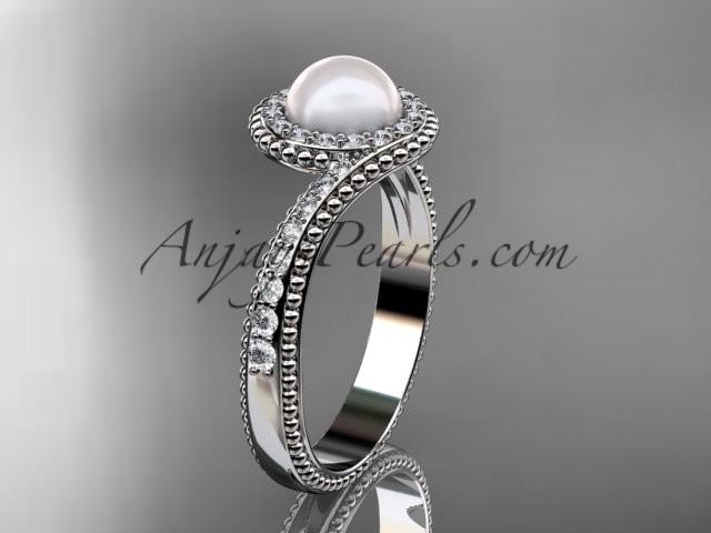 Hochzeit - platinum diamond wedding ring, engagement ring AP379