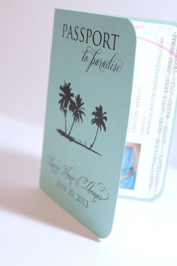 Unique And Customizable Passport Beach Tropical ...