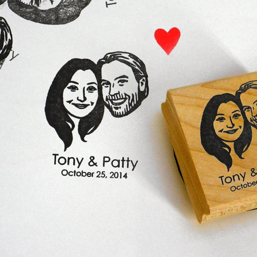 Personalized Gifts For Couple / Custom Portraits Stamps / Self Ink ...