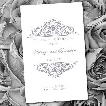 printable wedding program template grace gray make your own