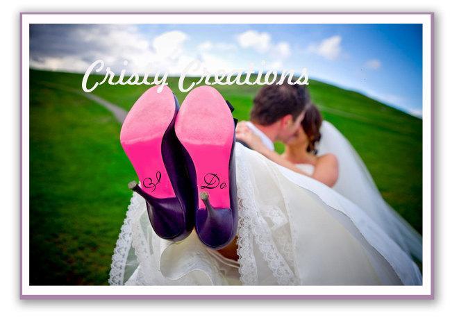 Mariage - I Do Wedding Shoe Decals