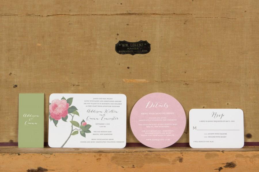 زفاف - Boho Botanical Wedding Invitations,Rustic Modern Wedding Invitation, Floral Wedding Invite,Unique Wedding Invitations,Boho Chic