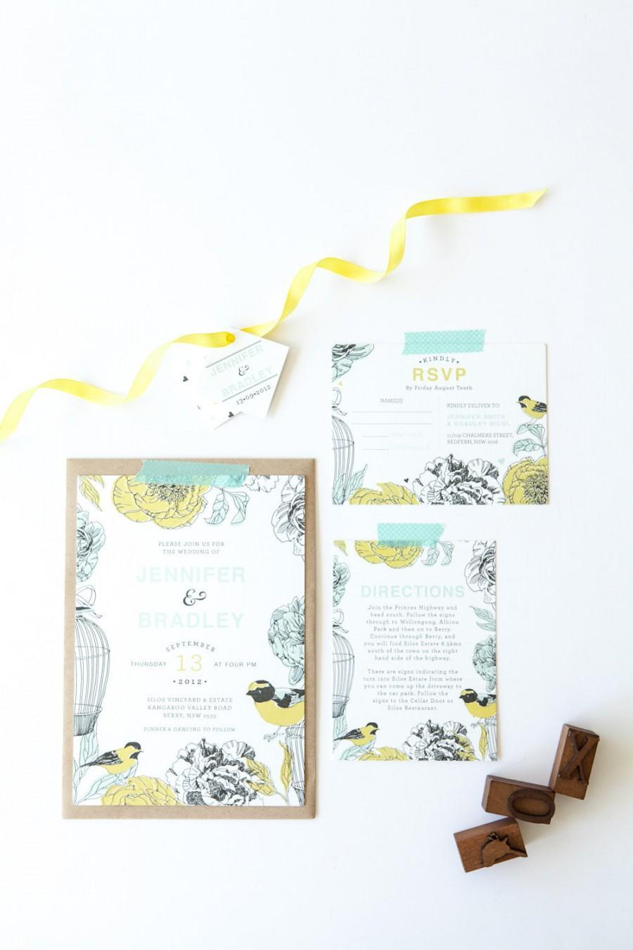 Wedding - Printable Wedding Invitation - DIY - Avery