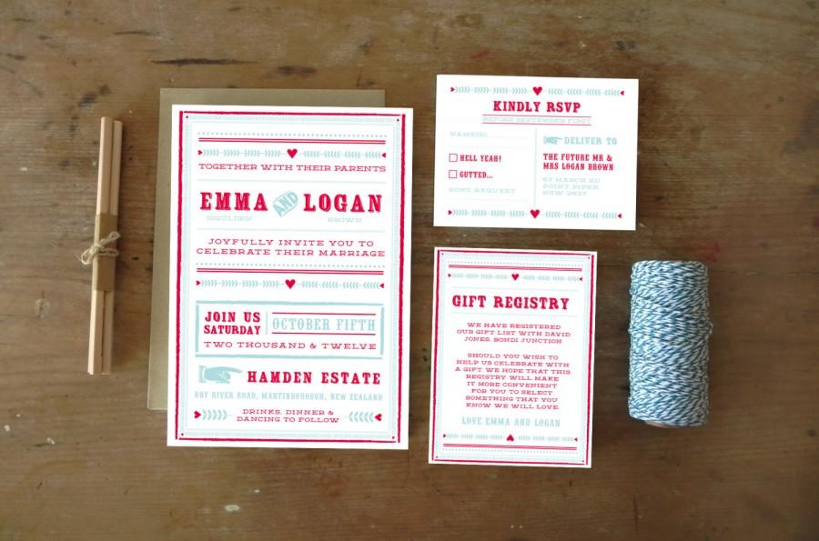 Wedding - DIY Printable Wedding Invitation Carousel - 4 pieces