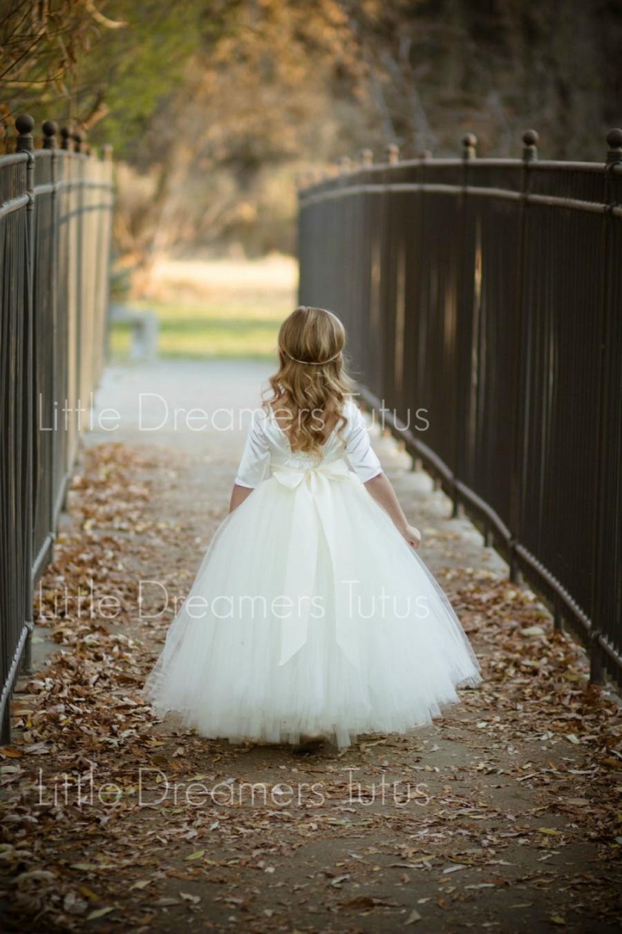 Hochzeit - NEW! The Sophia Dress in Ivory - Flower Girl Tutu Dress