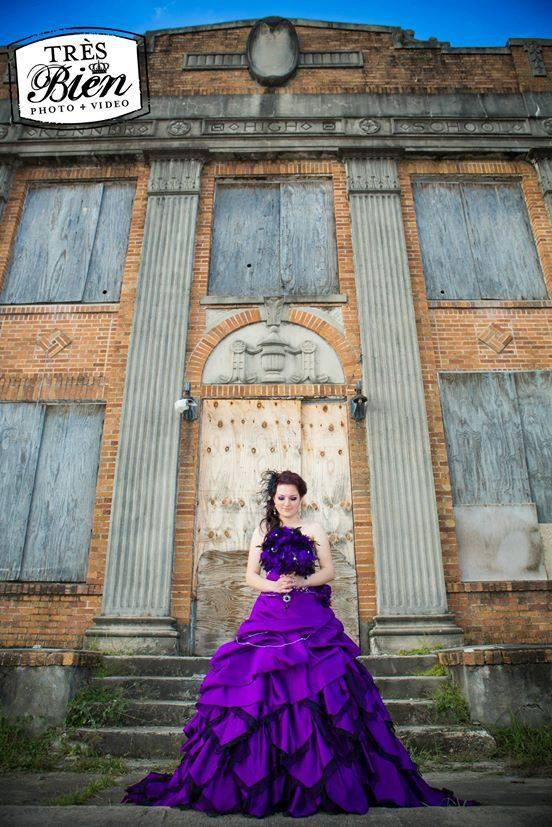 Hochzeit - Spectacular Purple Wedding Dress Alternative Gothic Custom Made to Your Measurements