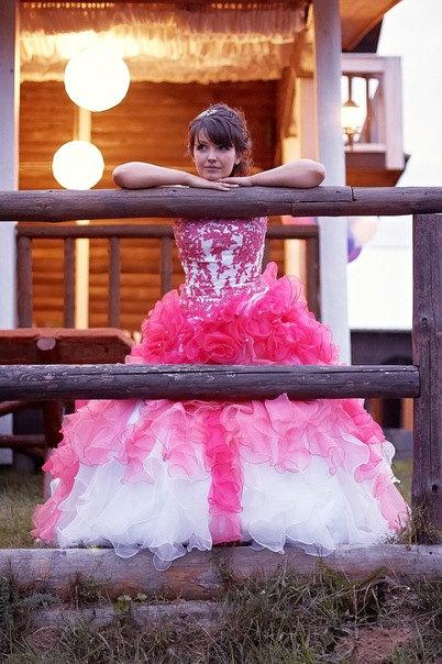 Mariage - Stunning Alternative Wedding Dress in Pink and White Custom Made to your Measurements