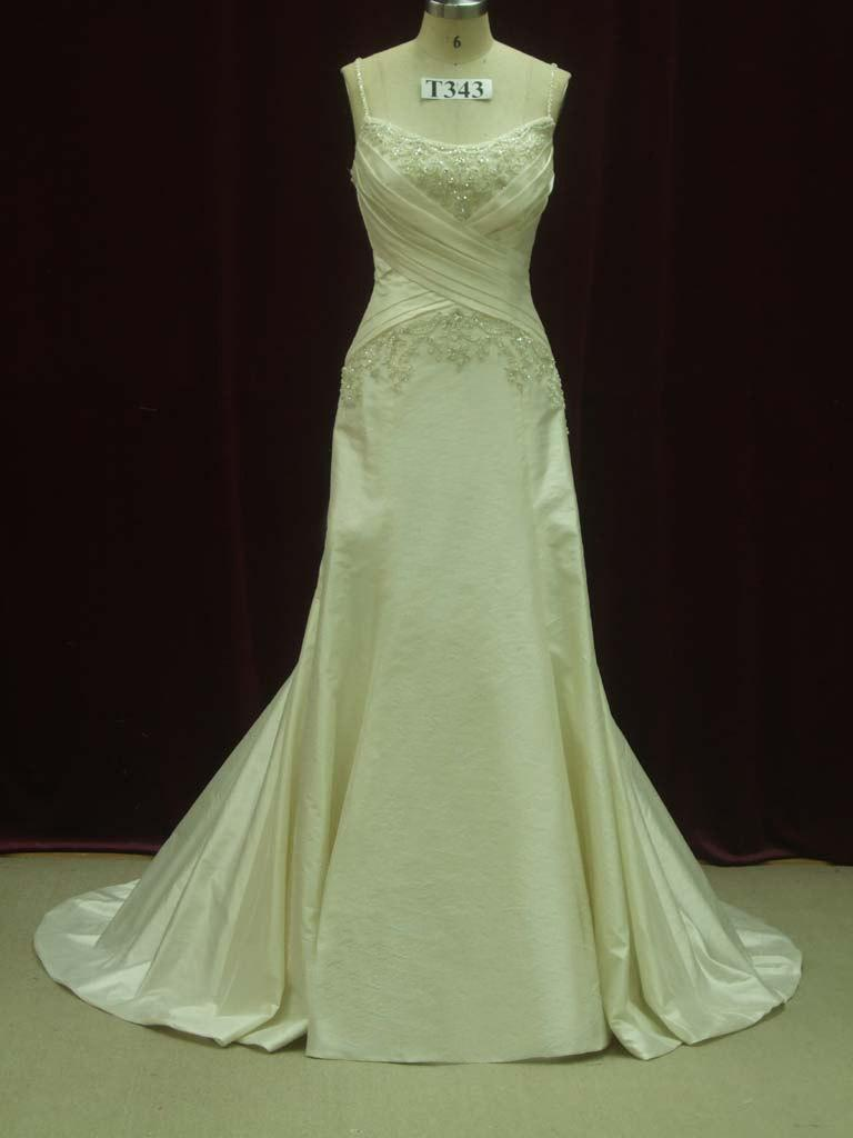 Hochzeit - Flattering Ivory Wedding Dress with Straps Custom Made to your Measurements