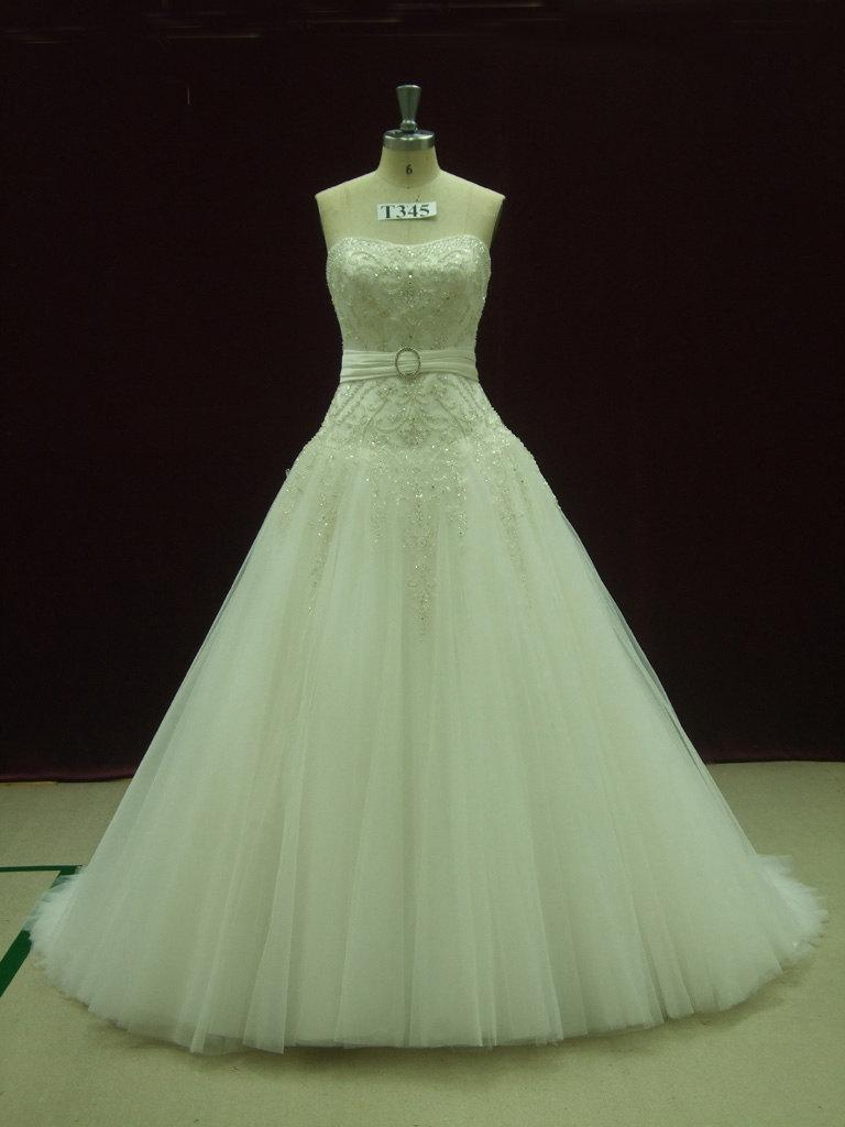 Hochzeit - Gorgeous Fairytale Wedding Dress with Crystallized Embroideredy Made to your Measurements