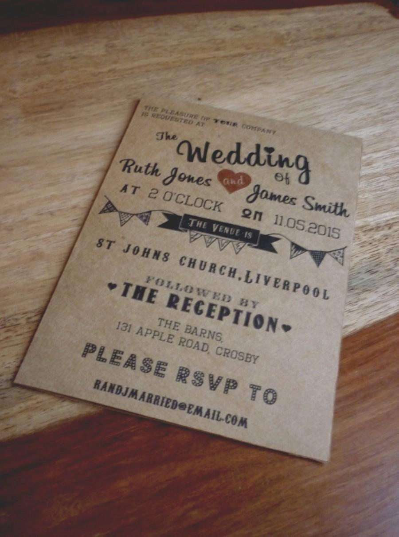 Wedding - Vintage / Retro Wedding Invitation