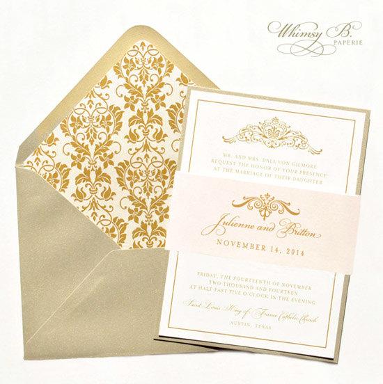 gold invitation gold wedding invitations blush champagne blush