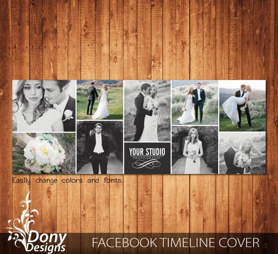Wedding Facebook Timeline Cover Template Photo Collage Photoshop