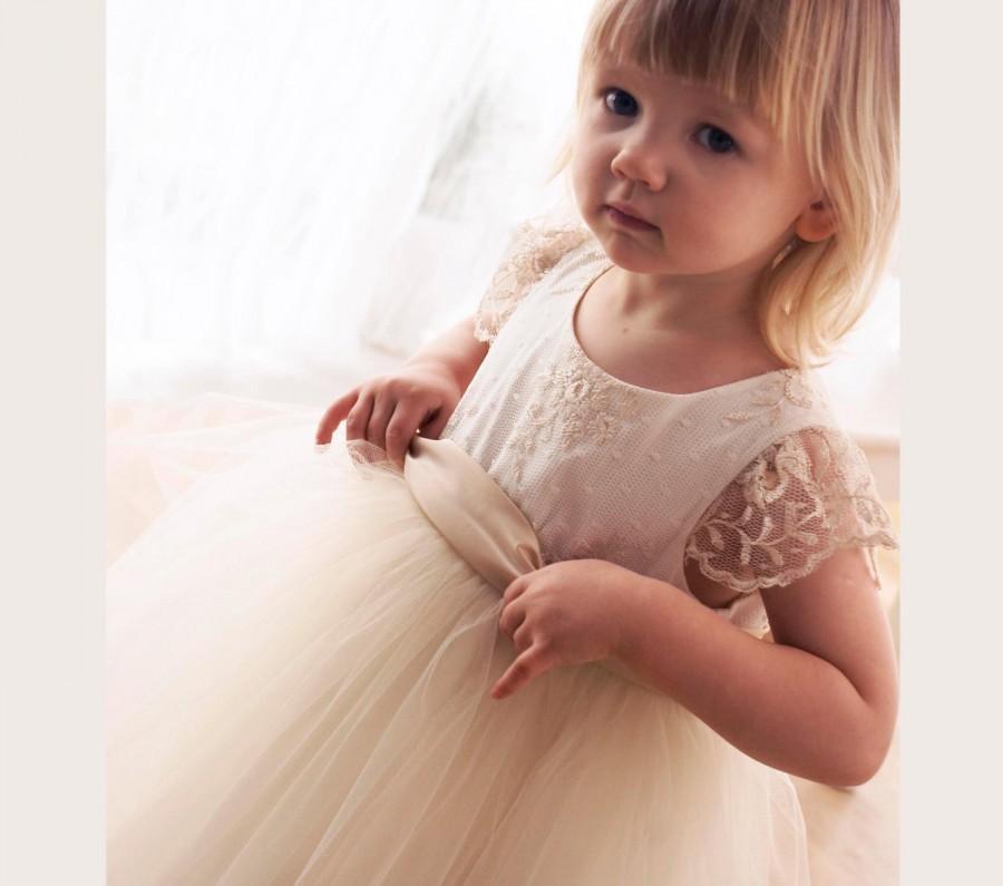 زفاف - Dress for a girl, for baptism, flower girl dress. communion and other occasion, flower girl dress, tutu dress-fancy dress-baby dress,wedding
