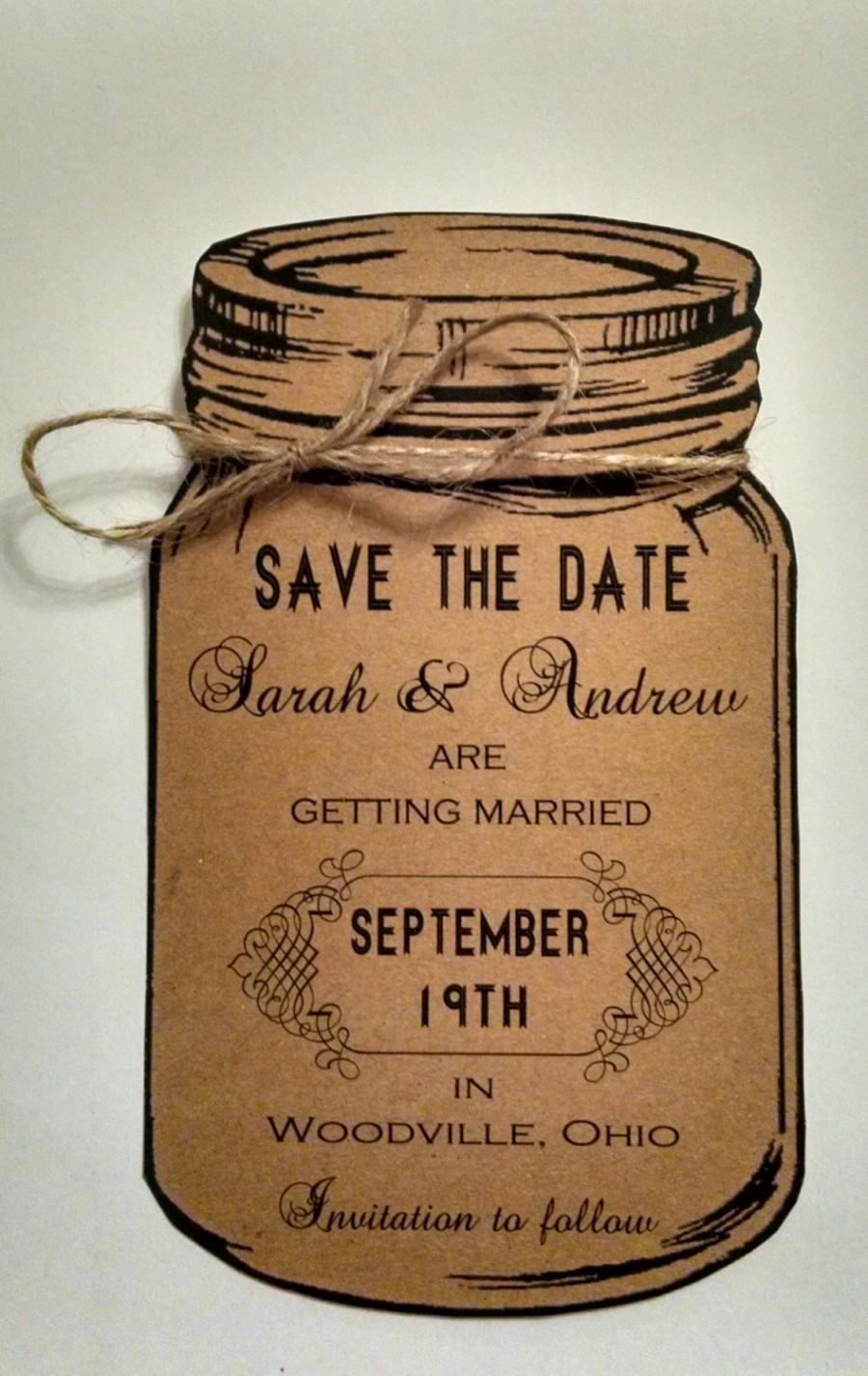 Wedding - Mason Jar Save the Date