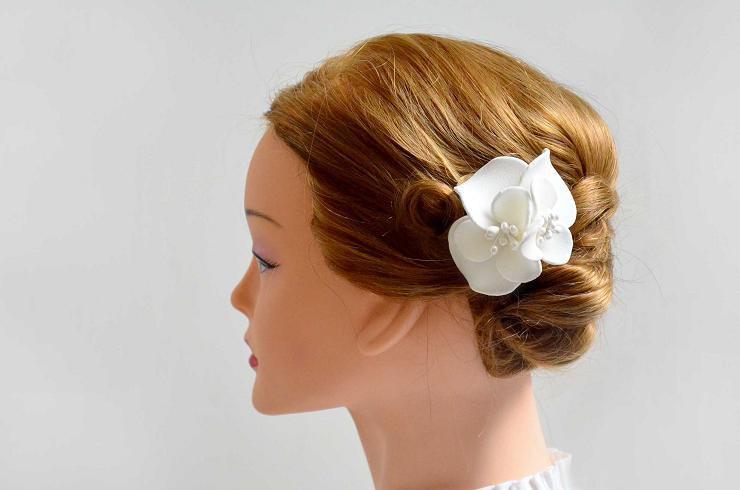 Ivory Hair Flower White Bridal Comb Girl Headband Fascinator Bridesmaid