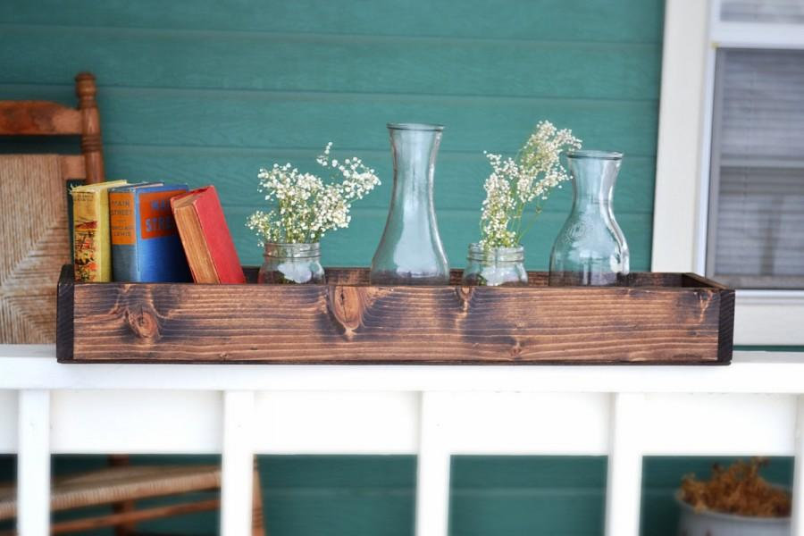 Rustic wood box centerpiece wedding