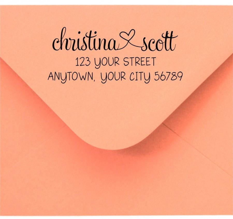 Wedding - Personalized Custom Made Handle Mounted or Self Inking Return Address Rubber Stamps R176