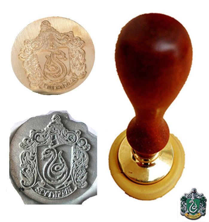 Wedding - DIY Cool Vintage Harry Potter Slytherin Snake School Badge Wax Seal Stamp Wedding Invitation Wax Seal Set Kit