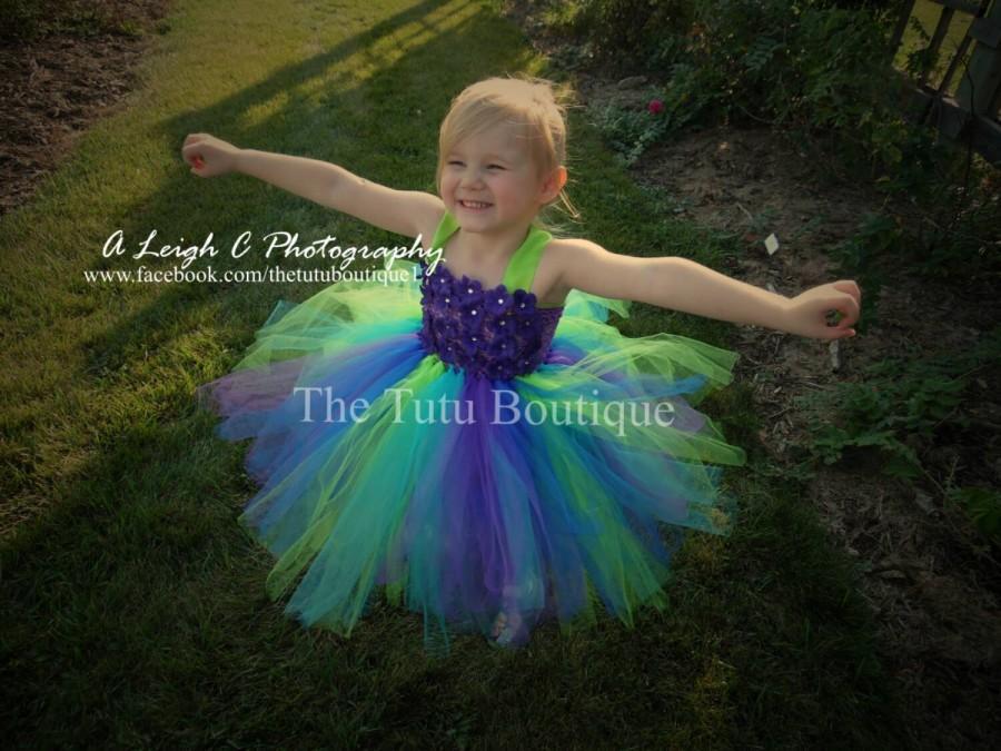 0ab1a00a5 Inspired Peacock Tutu Dress, Wedding, Cute Dress up Dress, Gift, Birthday  Tutu Dress, Flower Girl Dress, Fun Play -FREE SHIPPING!