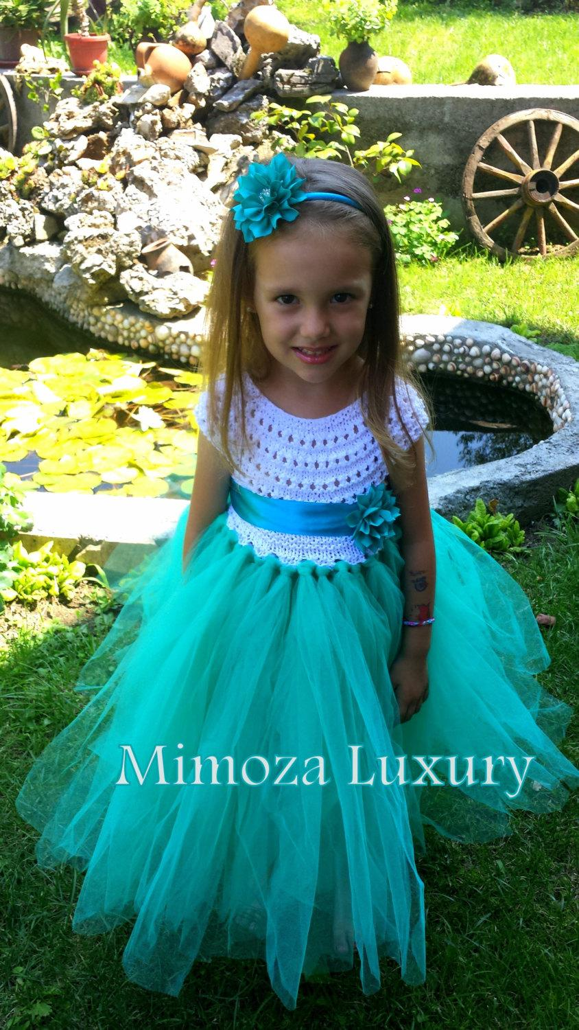Flower Girl Dress, Tutu Dress, Bridesmaid Dress, Princess Dress ...